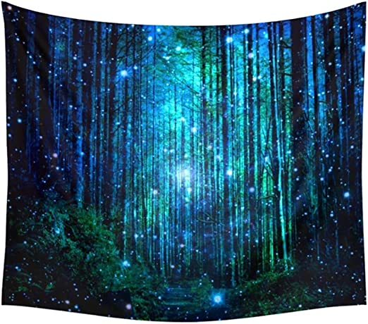 Magical Forest Tree Throw Tapestry Wall Hanging Mandala Bedspread Art Room Decor