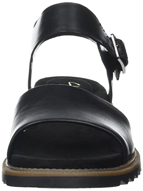 1bc69fe488c4 Clarks Women s Ferni Fame Wedge Heels Sandals  Amazon.co.uk  Shoes   Bags