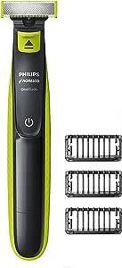 ماكينة حلاقة كهربائية نوريلكو ون بليد هايبرد QP2520/70 من فيليبس للحلاقة والتشذيب