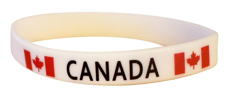 Canada Souvenir Wristband / Bracelet [12 Pack] 2cm Wide NWI