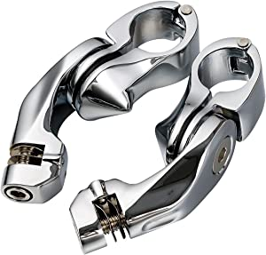 """TCMT 1-1/4"""" Short Angle Highway Pegs Mount Kit Fits For Harley Touring Electra Road Glide (Style A Highway Pegs Mount, Chrome)"""