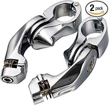 TCMT 1-1//4 32mm Short Angled Streamliner Highway Engine Guard Foot Pegs Fits For Harley Electra Road King Street Glide Touring Mode