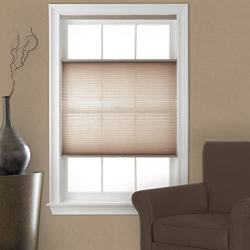 bottom up window shades all the way up top down bottom up cordless pleated shade camel 34x64 blinds amazoncom