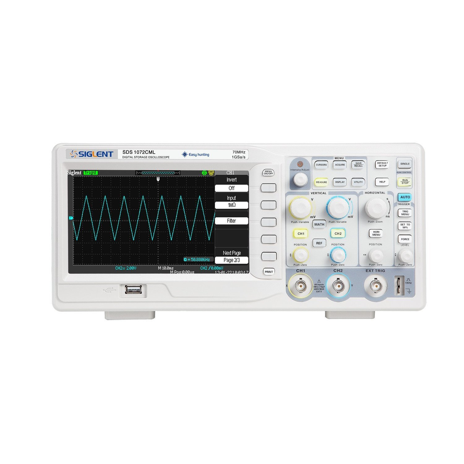 Siglent SDS1072CML 7'' TFT-LCD Display Bench-Top Oscilloscope, 70MHz product image