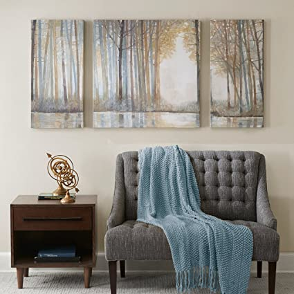 Forest Reflections Landscape Canvas Wall Art 15X30 2 Piece Multi Panel,  Modern/Contemporary Wall