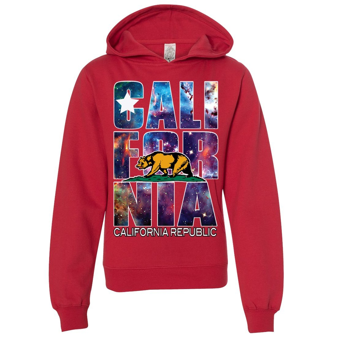 Dolphin Shirt Co California Republic Cosmic State Flag Space Galaxy Youth Sweatshirt Hoodie