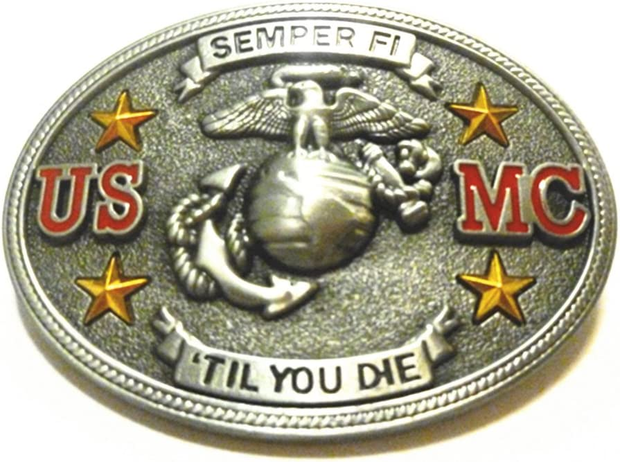 Semper Fi US Marine Corps Belt Buckle
