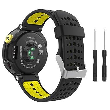 MoKo Forerunner 235 / 220 / 230 / 620 / 630 / 735 Correa - Reemplazo Suave Silicona Watch Band Deportiva Accessorios de Reloj Pulsera Ajustable con ...