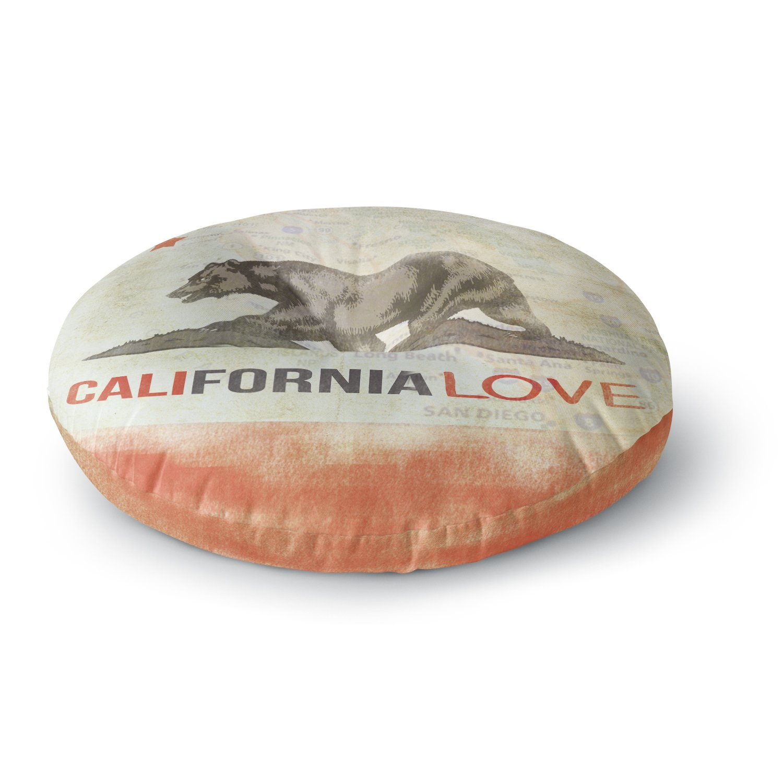 26 Round Floor Pillow Kess InHouse iRuz33 Cali Love