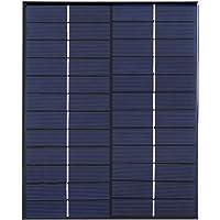 Yosoo Módulo Solar de Panel Solar de Silicio Policristalino de Mini Panel Solar 12V 5.2W para Fuente de Alimentación de Cargador de Batería de DIY