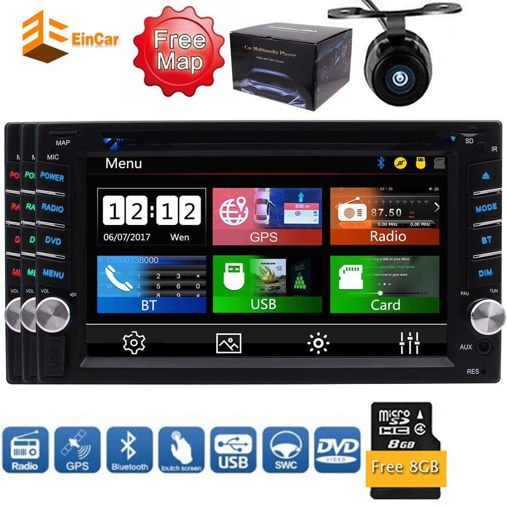 付属のユニバーサル2 DINカーフリーバックアップカメラのリモートコントロール用のBluetooth USB SdとのMP3ラジオ付きダッシュカーFM AM RDS DVDプレイヤーステレオタッチスクリーンでの熱い販売の製品6.2インチデジタル液晶モニターダブルDIN B0792T7XWT