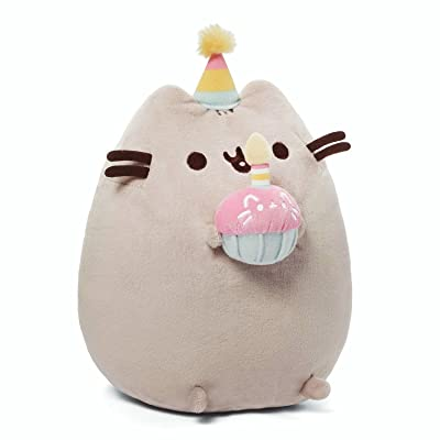 "GUND Pusheen Snackables Birthday Cupcake Plush Stuffed Animal, Gray, 10.5"": Gund: Toys & Games"
