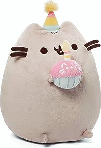 "GUND Pusheen Snackables Birthday Cupcake Plush Stuffed Animal, Gray, 10.5"""