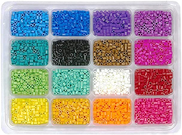 Multicolor Perler Beads Fuse Beads Tray 4000pcs
