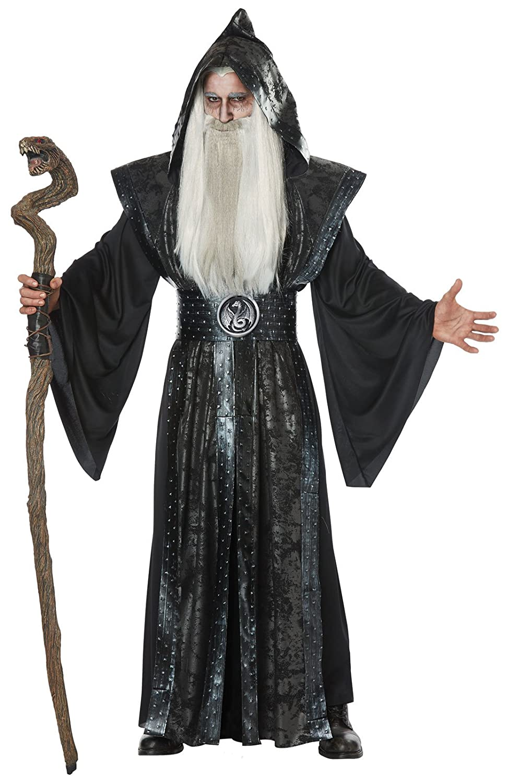 Mens Dark Wizard Fancy dress costume Small Medium