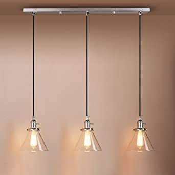 Pathson Industrial Modern Vintage Loft Kitchen Bar Lights - Bedroom light fittings uk