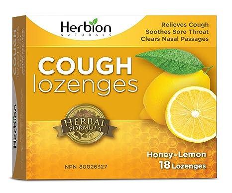 Amazon.com: Herbion Naturals Cough Drops, Honey Lemon, 18 Count: Health & Personal Care