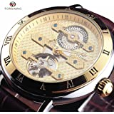 FORSINING New Series Rome Flywheel Automatic Mechanical Watches Men Luxury Famous Dress Leather Wristwatch
