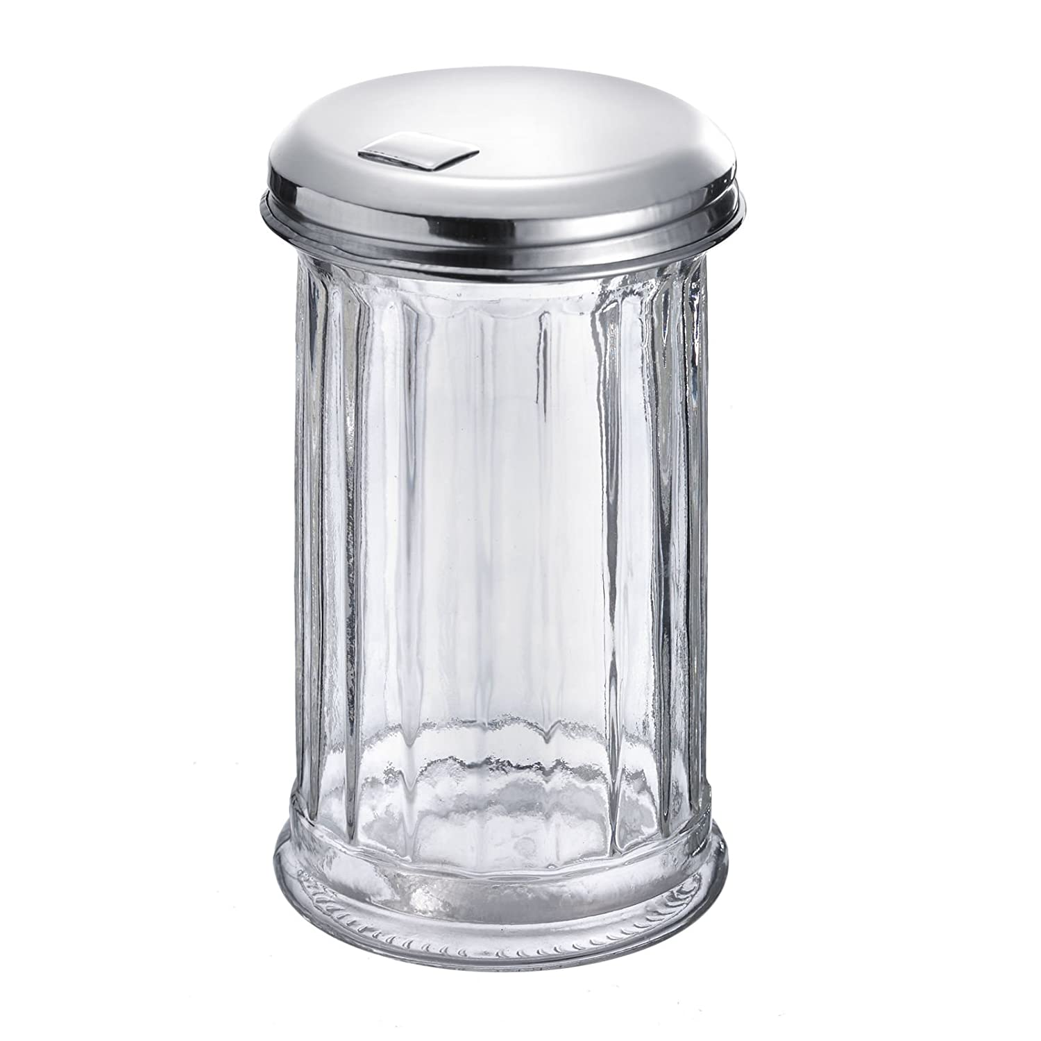 Westmark Germany 'New York' Glass Sugar Dispenser with a Flap Top, Stainless Steel 65202260
