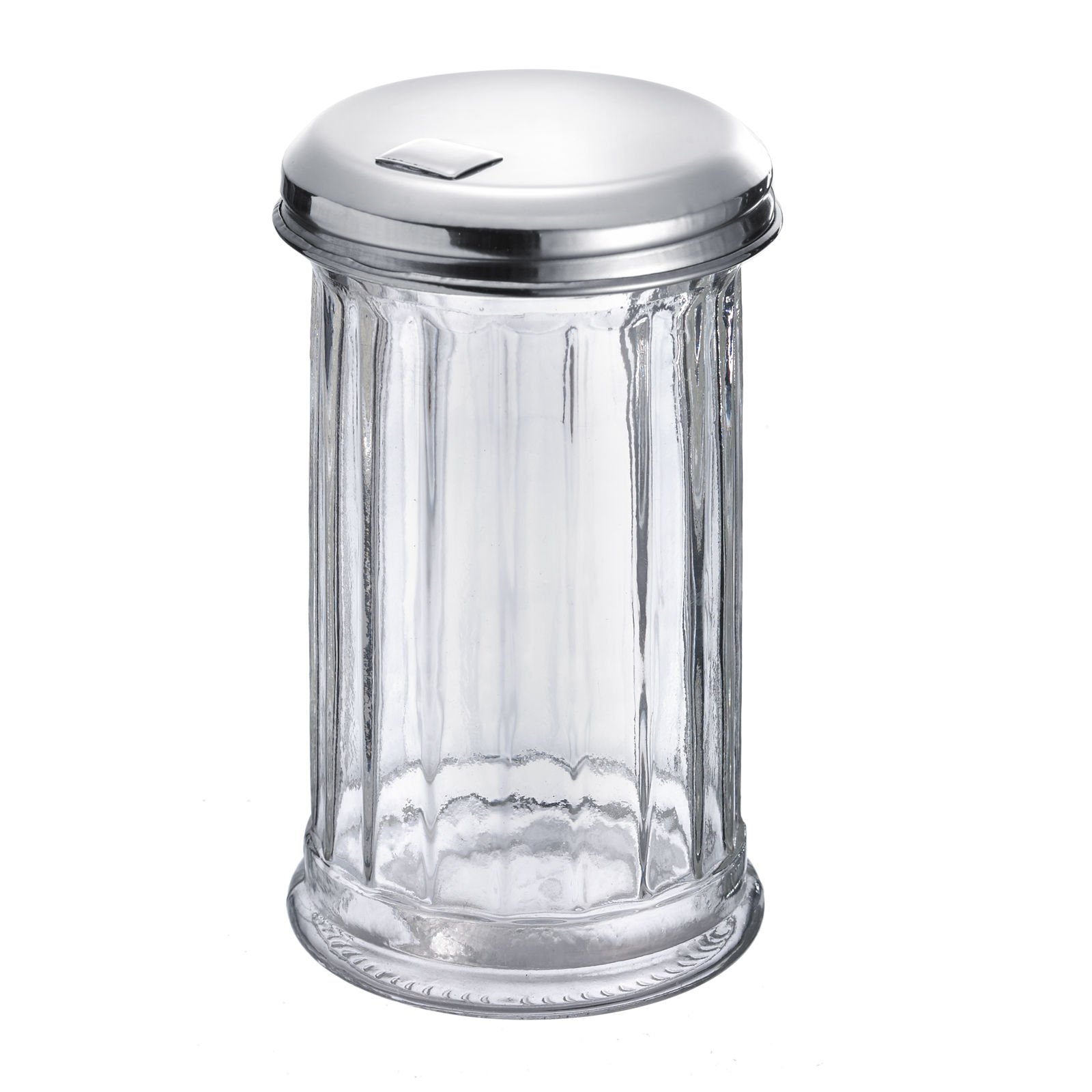 Westmark Germany 'New York' Glass Sugar Dispenser with a Flap Top, Stainless Steel