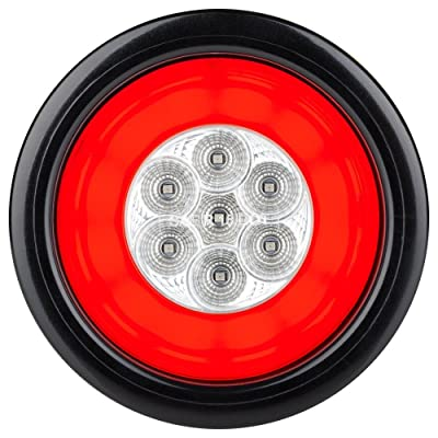 "Lumitronics RV HALO LED 4"" Sealed Round Stop/Turn/Tail Light (Clear): Automotive"