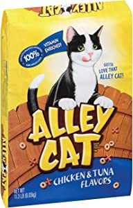 Alley Cat Chicken & Tuna Flavors Dry Cat Food, 13.3-Pound