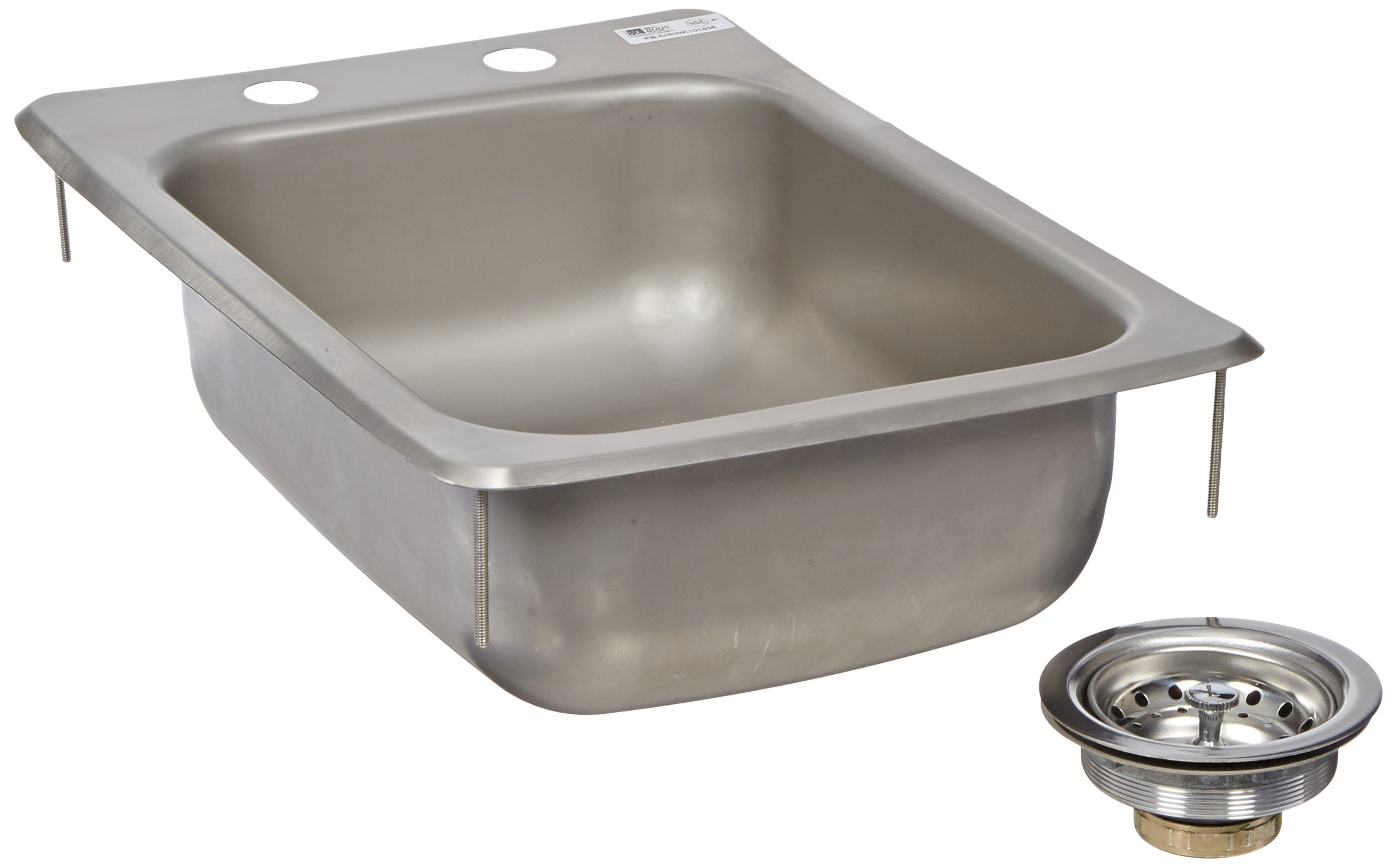 John Boos PB-DISINK101405 Deck Mount Pro-Bowl Drop-In Hand Sink, 14'' Length x 10'' Width x 5'' Depth by John Boos