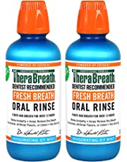 TheraBreath Fresh Breath Oral Rinse, Icy Mint, 16 Ounce Bottle (Pack of 2)