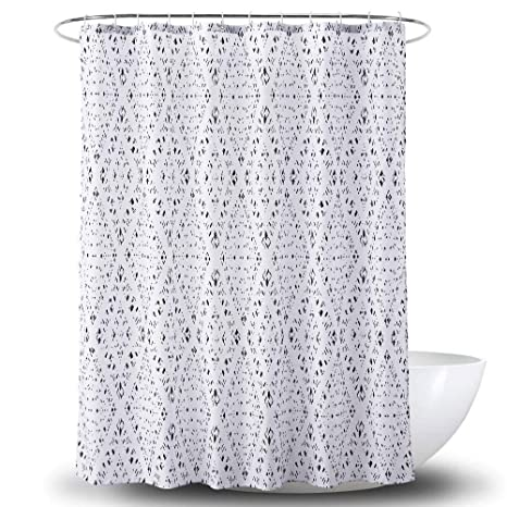 Jiaa Diamond Shower Curtain Liner Mildew Resistant FabricWaterproof Polyester For BathroomOdorless