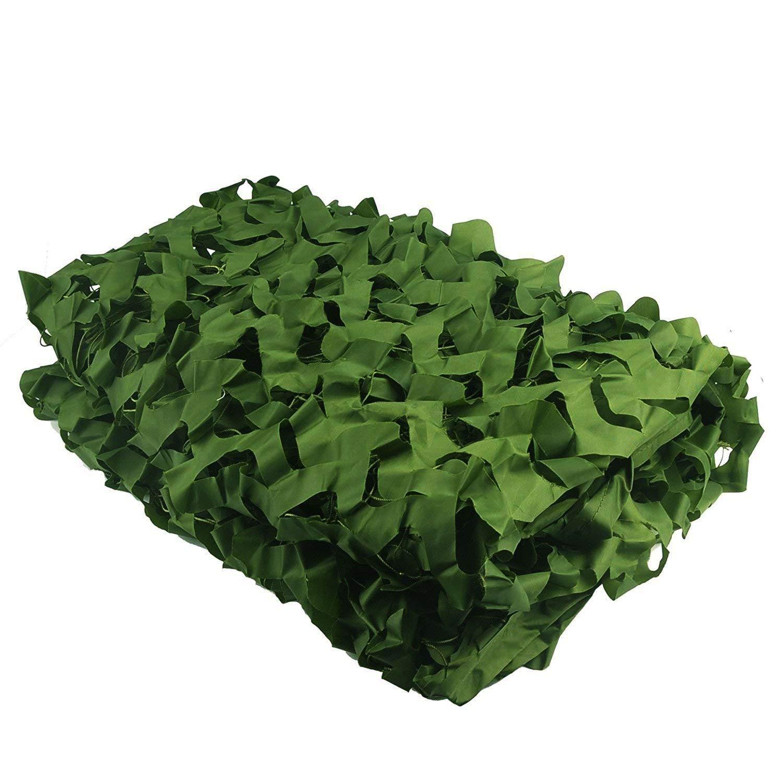66M(19.719.7ft) Auvent de terrasse Filet Camouflage, Filet de Camouflage Réseau Sun Stores Auvents Rideaux Tente en Tissu Oxford, pour Enfant Camping Armée Chasse Photographie Cachée Chasse Décoration(Vert, Multi-tai