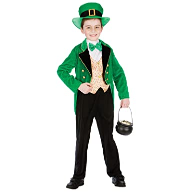 Kids Boys Large Deluxe Irish Leprechaun (8-10 years) St Patricks Fancy Dress  sc 1 st  Amazon UK : leprechaun costumes for toddlers  - Germanpascual.Com