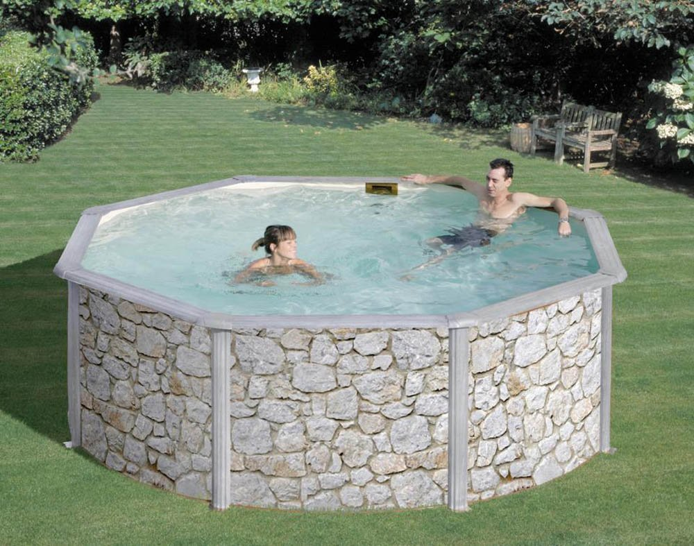 San Marina Pools - Piscina De Chapa Iraklion 240 X 120 Cm + Depuradora De Arena: Amazon.es: Deportes y aire libre