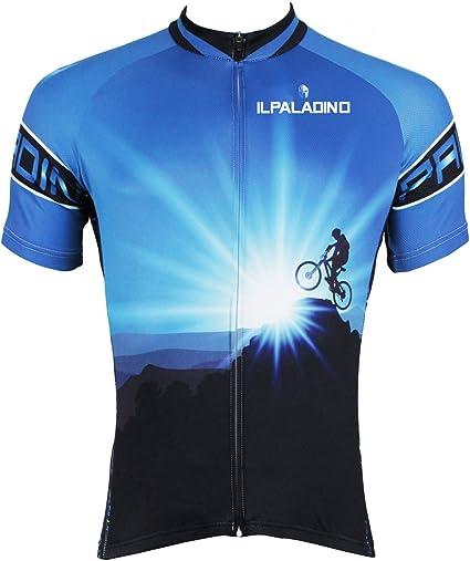 JenNiFer Hombres Ciclismo Jersey Camisas De Bicicleta Manga Ciclismo Jersey Motocicleta Camisa De Secado Rápido - XL: Amazon.es: Coche y moto