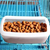 Guardians Small Dog Food Container Water Feeder Bin Double Use Bowl Pet Supplies For Dogs Cats Puppies Pig Crate Hanging Pan Cage Plastic Dish