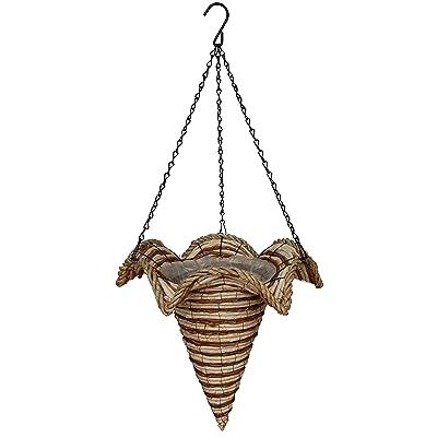 """19"""" Diameter Star Cone Hanging Basket Hand Woven: Garden & Outdoor"""