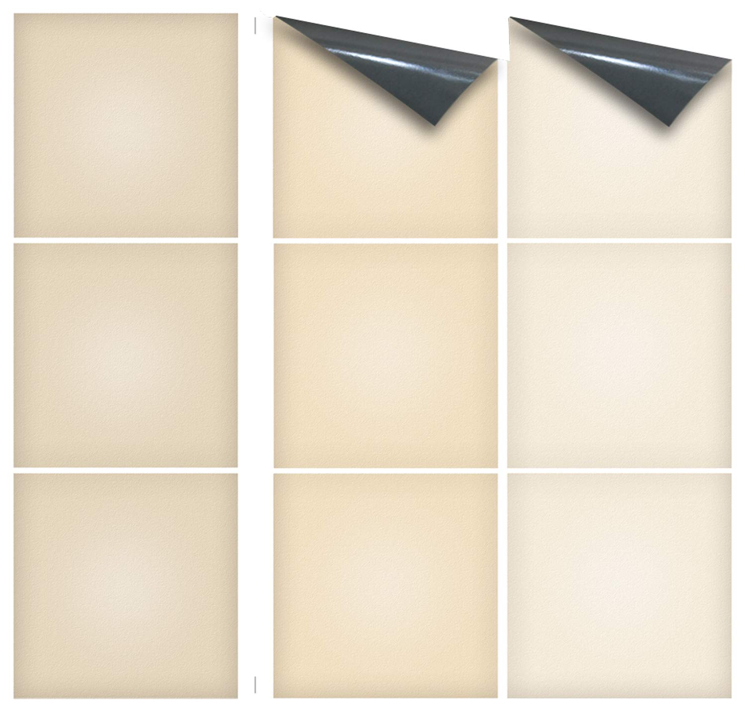 """10cm x 10cm 35 NEW STYLES avai non see through material DESERT STONE sheet of 9 Transfer Tile Stickers for 4/"""" x 4/"""" tiles 3M Self Adhesive sheet of nine tile sticker transfers for Kitchens /& Bathrooms Fully wipeable steam and heat resistant"""