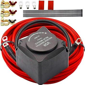 Amazon.com: Dual Battery Isolator Kit, 12V 140 Amp Dual ... on