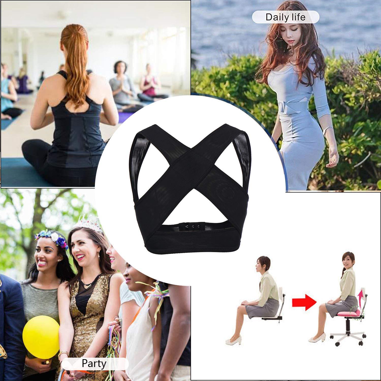 Joyshaper Chest Supports for Women Posture Corrector Bra Chest Brace Up Back Support Vest Shapewear Tops Prevent Hunchback Sagging
