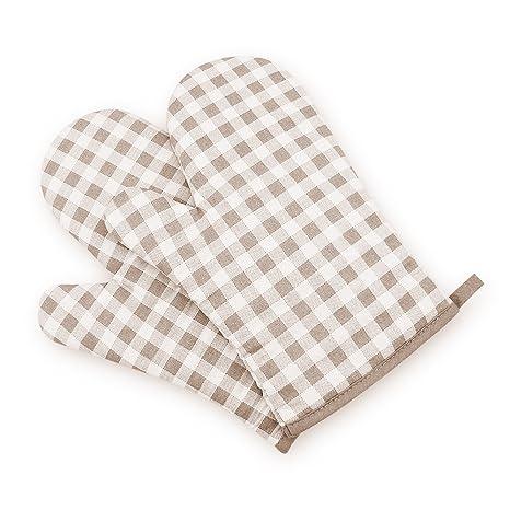 XFAY HX444 Paño de algodón impresa Barbacoa BBQ guantes/Guantes de Cocina - 1 par