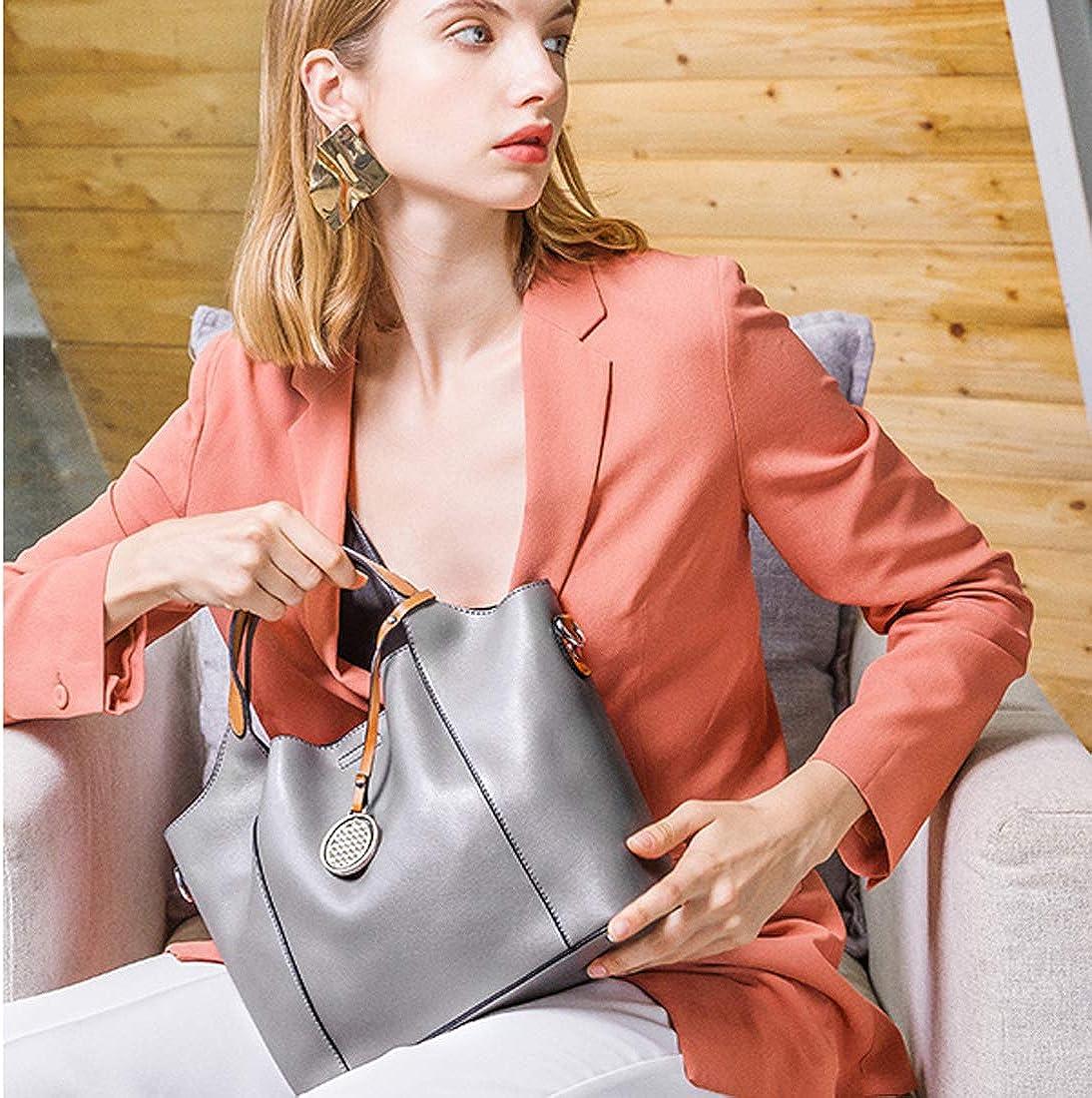 Ladies PU Leather Handbag Large 2-in-1 bag Shoulder Bag Totes Women Designer