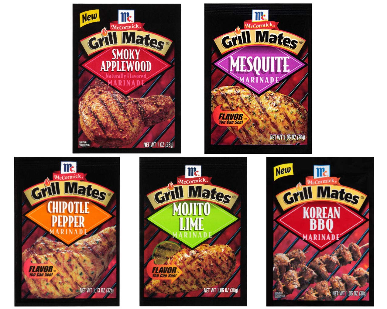 McCormick Grill Mates Marinades Variety Pack, 5 count