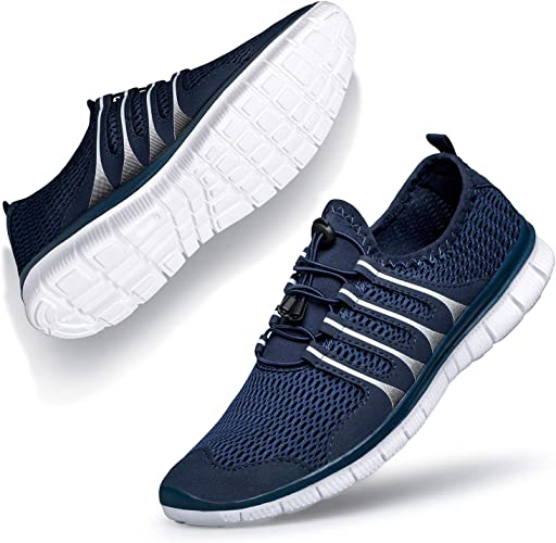 ZOCAVIA Womens Sneakers Lightweight Breathable Mesh Quick Drying Barefoot Non Slip Athletic Gym Sports Walking Shoes