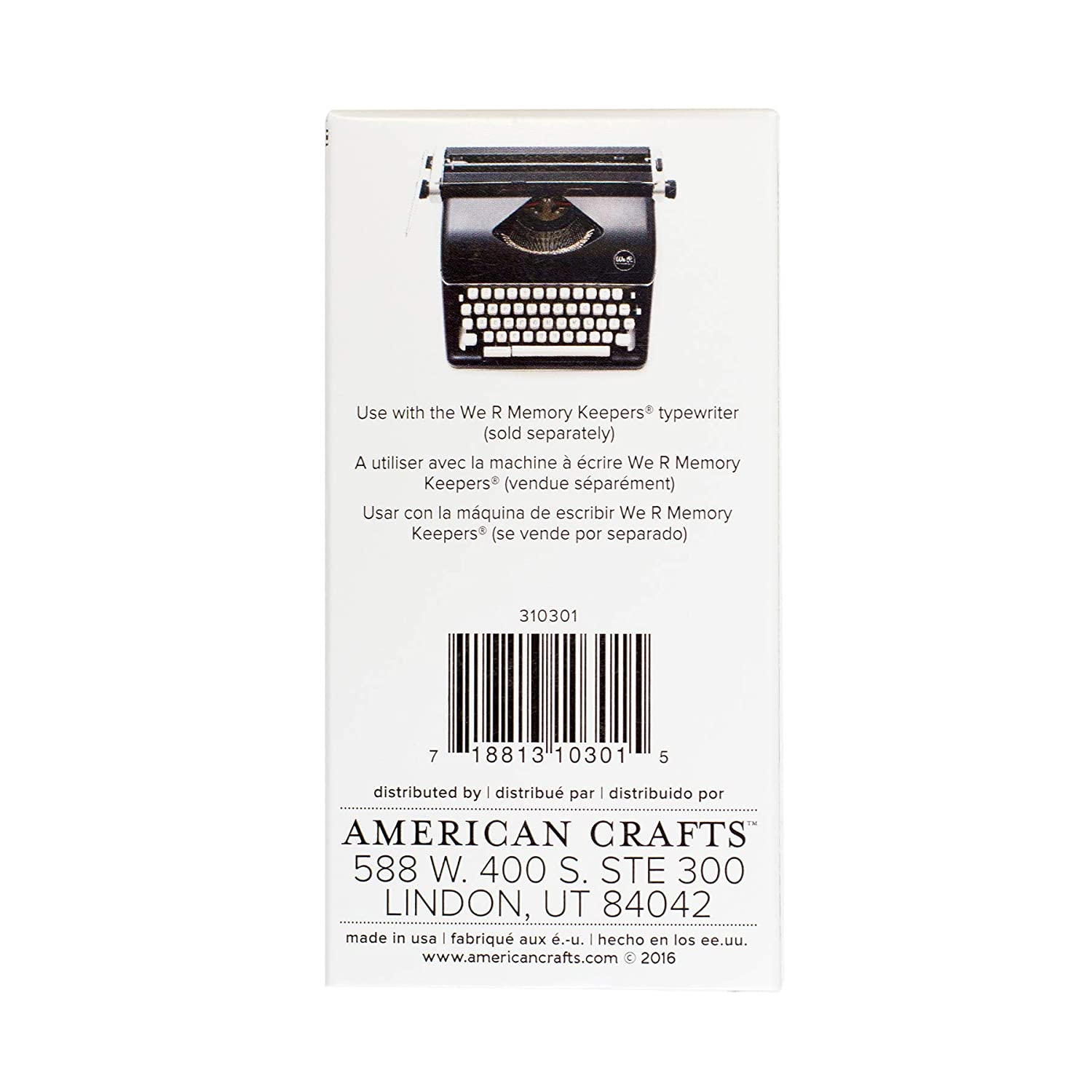 American Crafts Tinta Turquesa para Máquina De Escribir Typecast Typewriter We R Memory Keepers: Amazon.es: Hogar