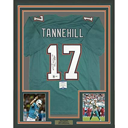 size 40 15be5 5e6d3 Autographed Ryan Tannehill Jersey - FRAMED 33x42 Teal ...