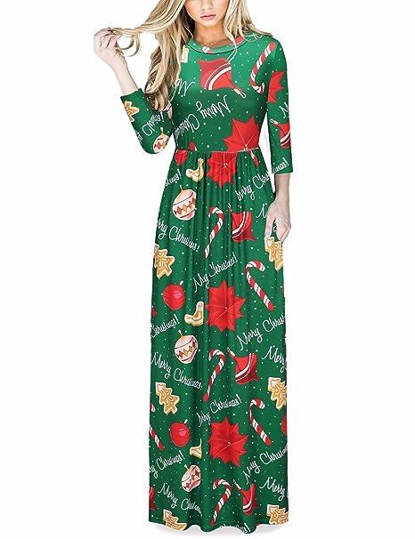 c6e0621e5 Las Mujeres de impresión Floral de Manga Larga Boho Vestido de Damas de  Noche Party Maxi Vestido Largo