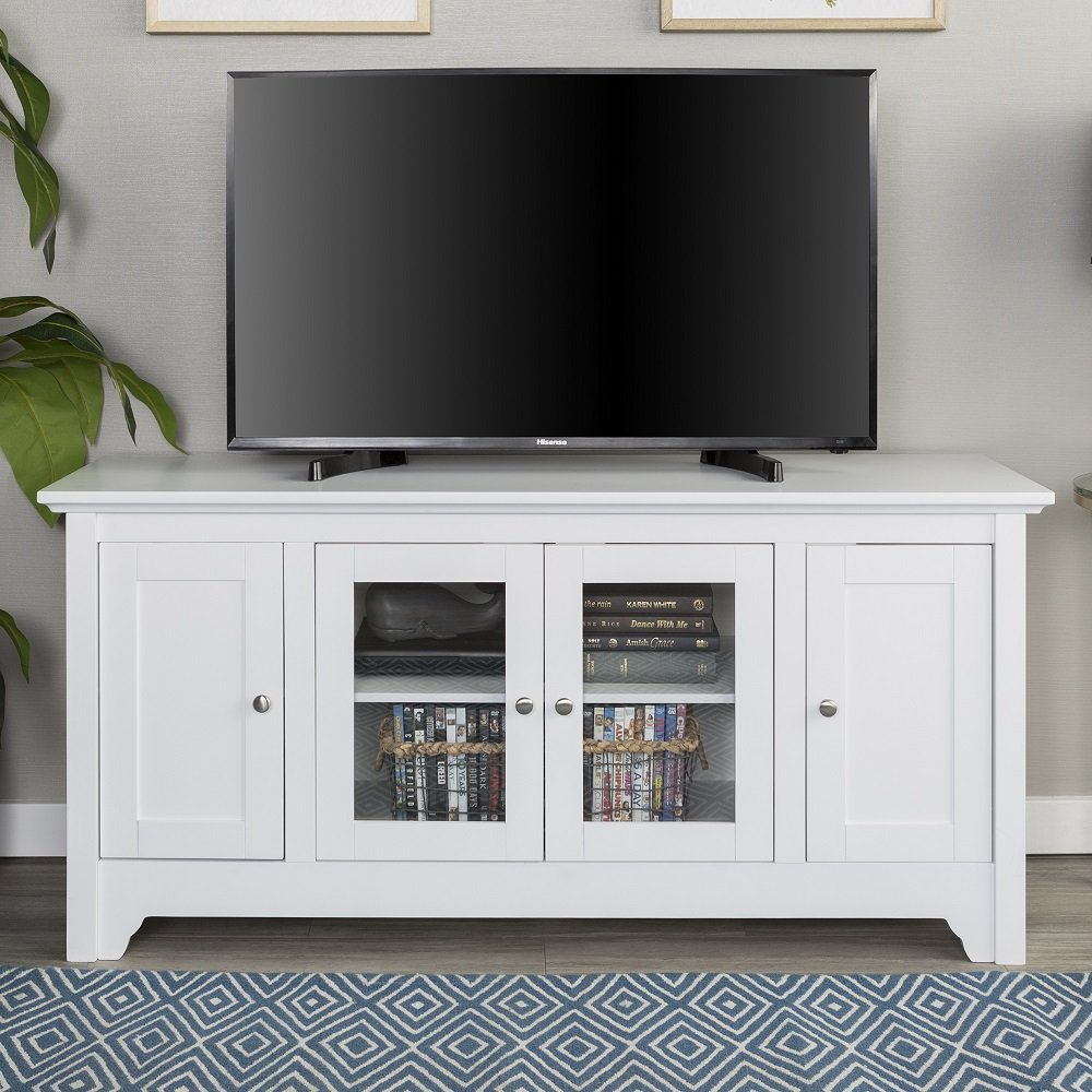 New 52 Inch Wide Television Stand in White Finish