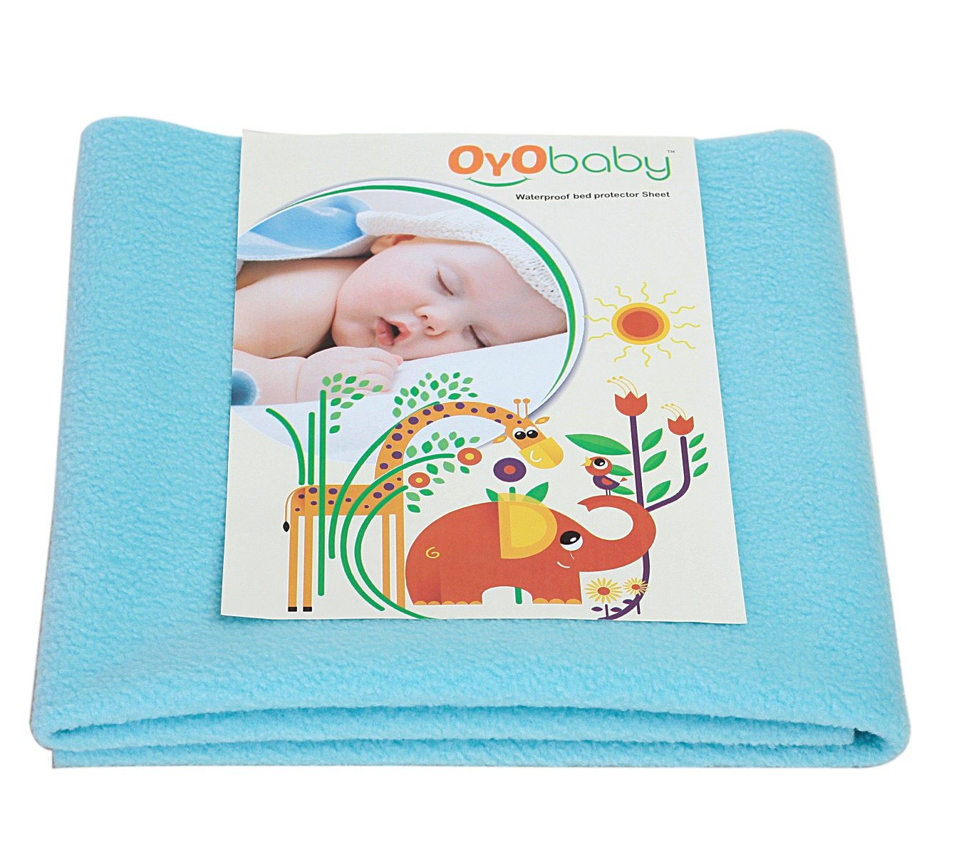 OYO BABY - Water Proof and Reusable Mat/Bed Protector/Absorbent Dry Sheets (70cm X 50cm, Small) - Sea Blue product image