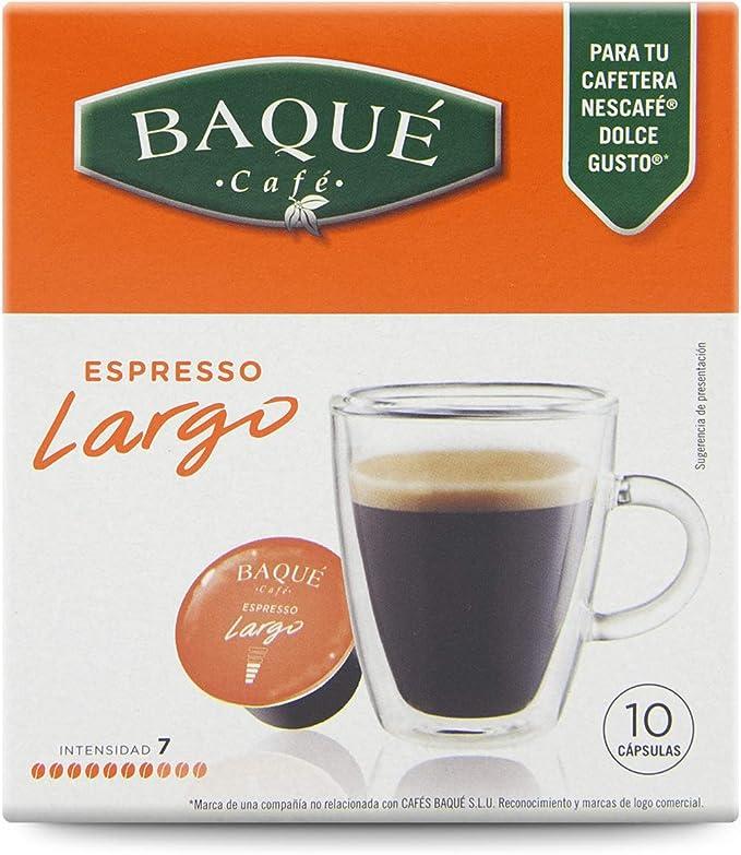 Cafés Baqué Capsulas Compatibles Dolce Gusto Espresso Largo 40 ...