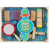 Melissa & Doug Band-in-a-Box Drum! Click! Clack! - 6-Piece Musical Instrument Set