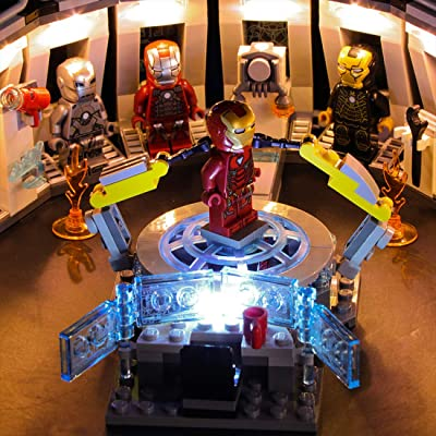 FenglinTech LED Light Kit for Lego Marvel Avengers Iron Man Hall of Armor 76125 Building Kit (Lego Set Not Included, 3rd Party Lego Accessory): Toys & Games